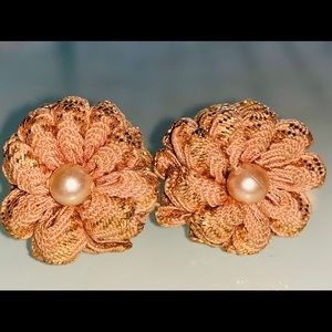 Vintage Pink Colored Clip-On Earrings
